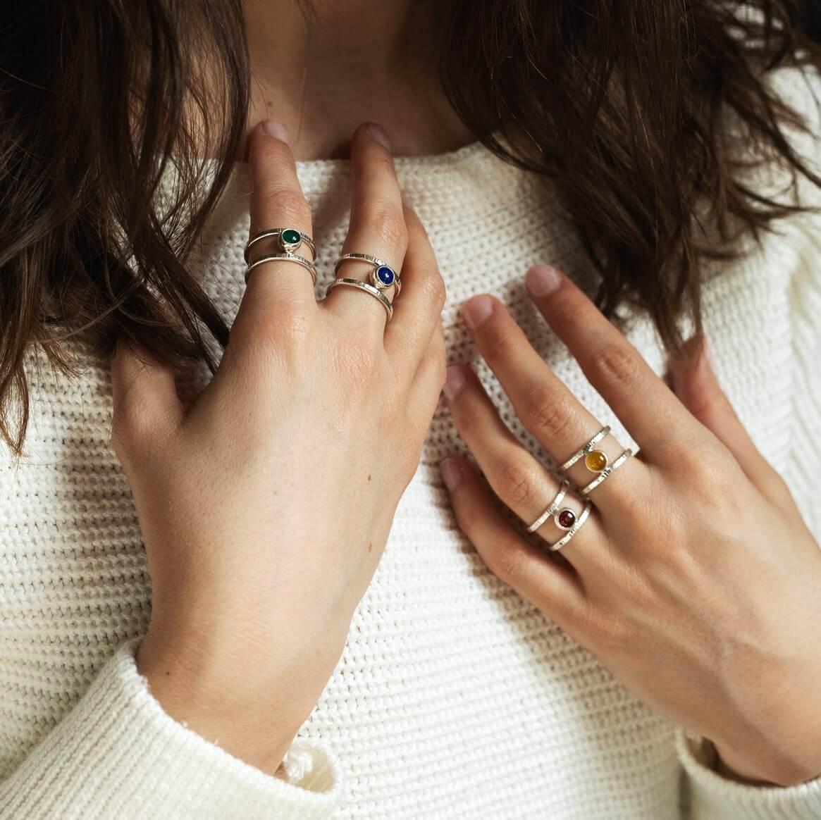 Pierścionek Simple z lapisem lazuli