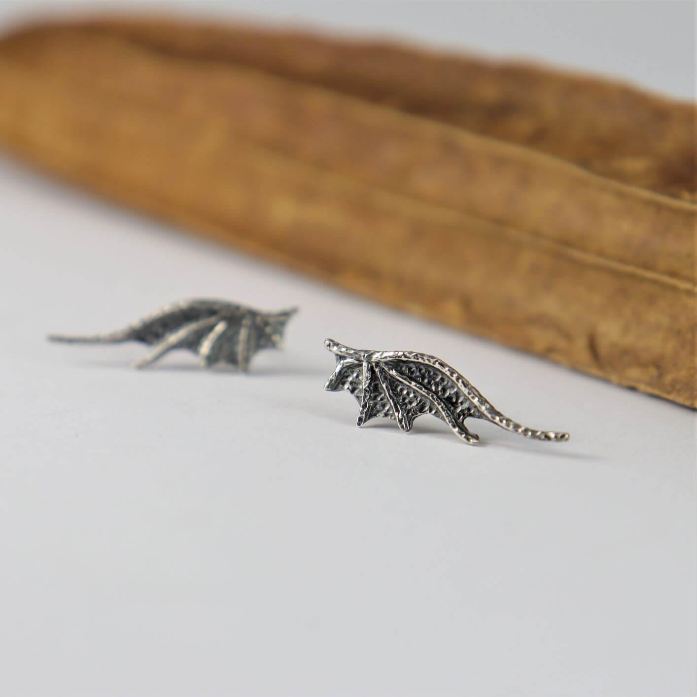 Kolczyki Long Dragon Wings Mini