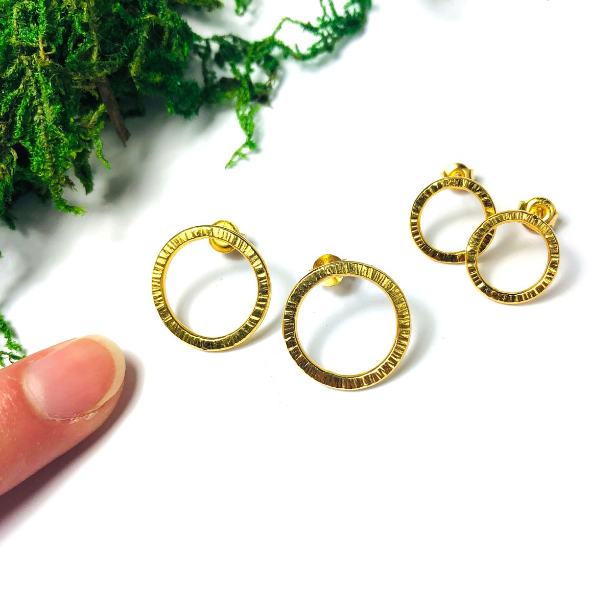 Kolczyki 10 mm złocone Simple sote