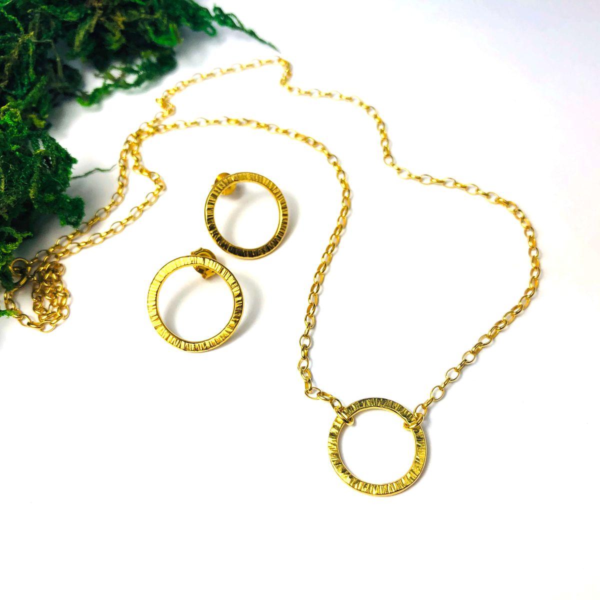 Kolczyki 15 mm złocone Simple sote