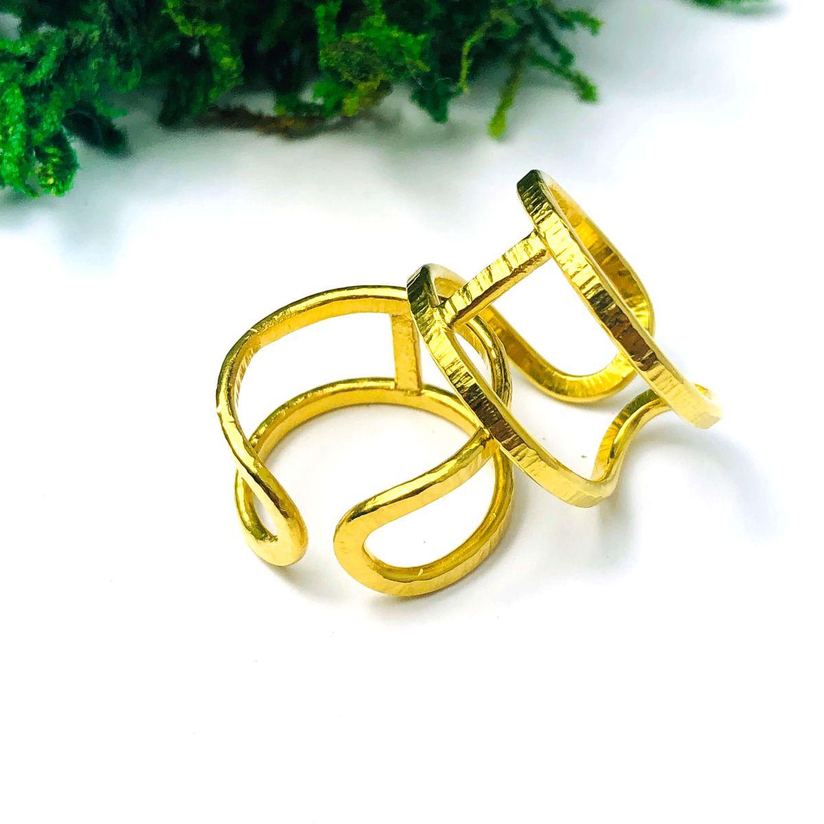 Pierścionek Simple sote złocony