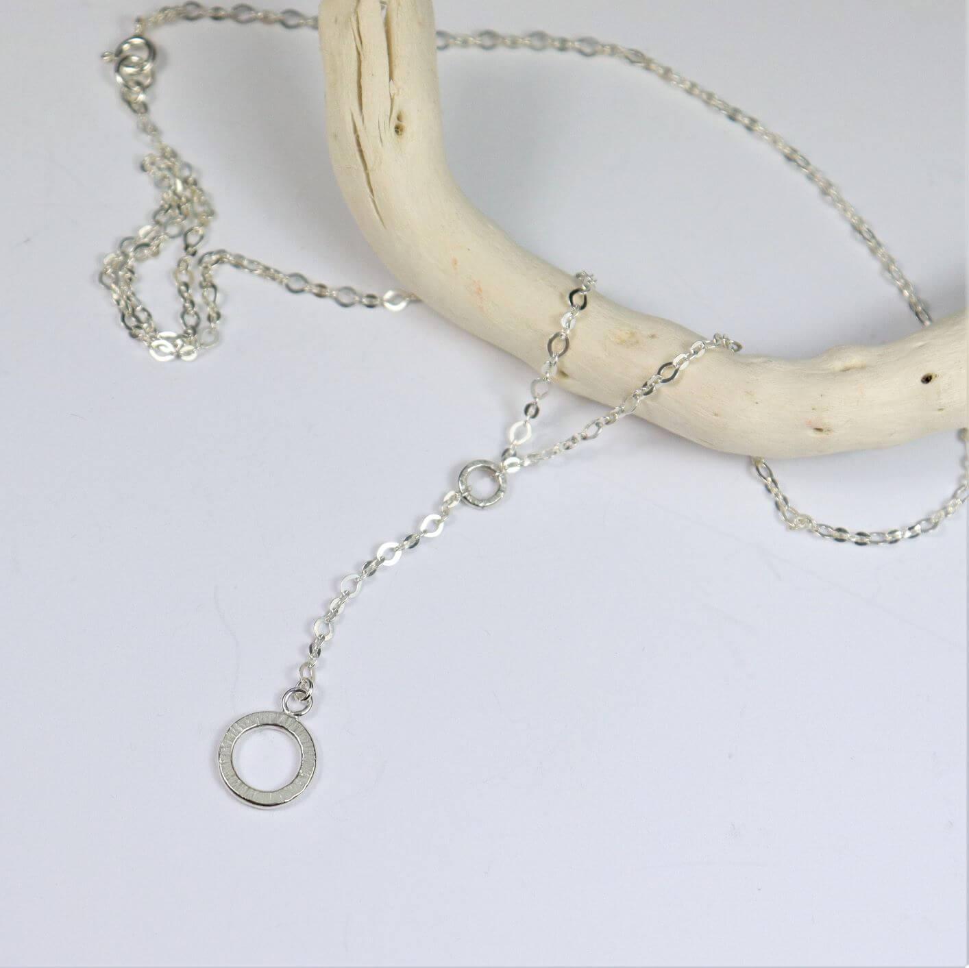 Naszyjnik długi 10 mm sote srebrny